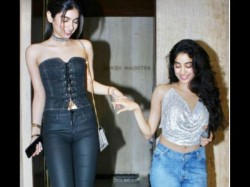 Jhanvi Kapoor S Backless Top Steal The Show At Sridevi S Birthday Party