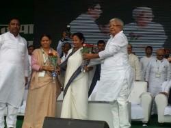 Lalu Mamata Akhilesh Shares Stage On Anti Bjp Movement Patna