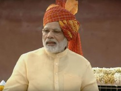 Modi Reaches Red Fort Address Nation Shortly