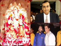 Bolyywood Celebes At Ganesh Puja Mukesh Ambani