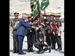 President Kovind Takes Salute Ladakh Scout Regiment