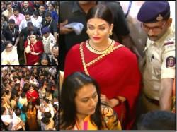Aishwarya Rai Bachchan Bids Adieu Lalbaugcha Raja