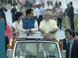 Japanese Pm Shinzo Abe Ahmedabad Welcome Pm Modi In Era In Indo Japan Partnership