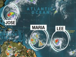 After Irma Its Now Hurricane Maria Lee Jose Atlantic Ocean Ocean Hit Caribbean Islands