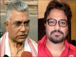 Dilip Ghosh Targets Mamata Banerjee Over Puja Opening Babool Supriyo
