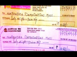 Andhra Ngo Sends 68 Paise Cheques Pm Narendra Modi