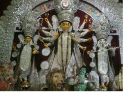 Bengalis Celebrating Maha Chaturthi Durga Puja West Bengal