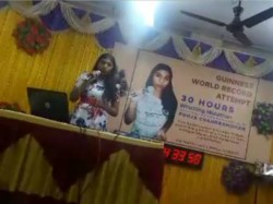 Chennai S Pooja Chandramohan Whistles 30 Hours Sets Guinness World Records