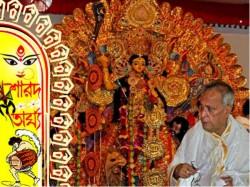 Ex President Pranab Mukherjee Takes Part Durga Puja His House
