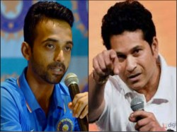 Sachin Tendulkar Motivates Ajinkya Rahane Playing On Cricket