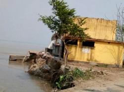 A School Overwhelms Ganga Erosion At Malda