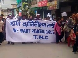 General Public Also Join Tmc S Procession Mirik With White Flag