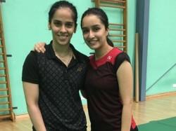 Shraddha Kapoor Meets Badminton Star Saina Nehwal