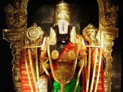 Devotee Offers Gold Garland Valued About Rs 8 36 Crore Lord Venkateswara