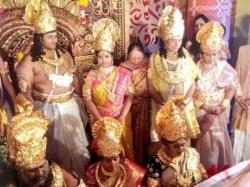Andhra Pradesh Godman S Family Gets God Like Wedding Dressed Like God
