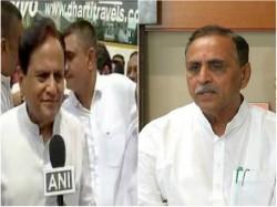 Vijay Rupani Alleges Links Terror Suspects Ahmed Patel Congress Denied