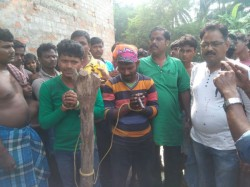 Victim S Husband Nandigram Is Arrested With Illegal Arms