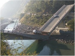 Bridge Links Chamba Town Himachal Pradesh With Pathankot Punjab Collapses