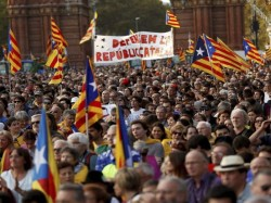 Catalonia Declares Independence Regional Parliament