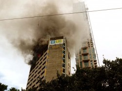 After Five Hours The Fire Jeevan Sudha Building Comes Under Control