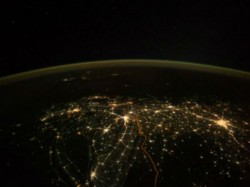 Real Picture India From Space On Diwali Italian Astronaut
