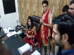 Radhe Maa Sits On Sho Chair Photo Goes Viral
