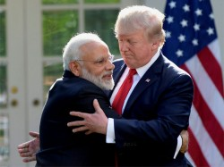 Pm Modi Donald Trump Shake Hands On Sidelines Asean Summit China Fears
