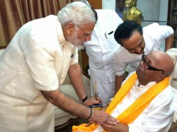 Pm Narendra Modi Meets Karunanidhi Chennai