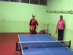 Septuagenarian Lady Bengaluru Plays Table Tennis Video Goes Viral