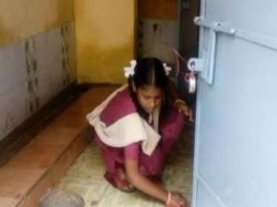 Principal A Government School Tamilnadu Allegedly Forced The Girls Students Clean Toilets