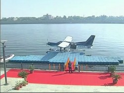Gujarat Elections 2017 Sea Plane Takes Off From Sabarmati Pm Modi Dharoi Dam