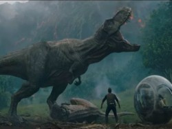 The First Trailer Jurassic World Fallen Kingdom Features Dinosaurs Erupting Volcanos