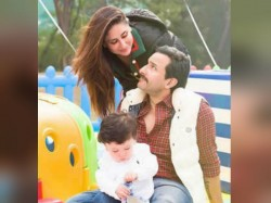 Birthday Boy Taimur Smears His Face With Cake Strikes Cute Pose With Saif Bebo