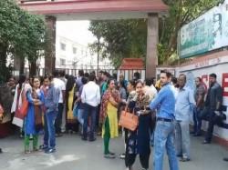 Parents Students Mp Birla School Staged Demonstration At James Long Sarani