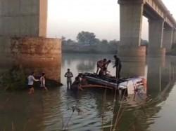 Passenger Bus Veered Off Bridge Plunged Into River Rajasthan