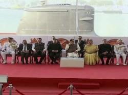 Ins Kalvari Commissioned Into The Indian Navy Pm Narendra Modi Mumbai