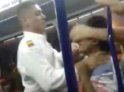 Bus Driver Colombia Punches Passenger After Argument About Missing His Stop Gets Of Hand