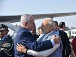 Benjamin Netanyahu Arrives India Pm Modi Welcomes Him At Delhi