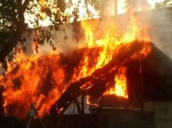 Muslim Woman S House Set Ablaze Supporting Ram Temple Uttar Pradesh