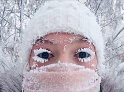 Eye Lashes Got Frozen Burst Thermometers At Oymyakon
