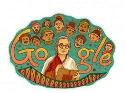 Google Doodle Pays Tribute Writer Mahasweta Devi
