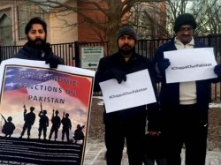 Protest Over Kulbhushan Yadav Issue Washington