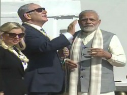 Israel Pm Netanyahu Soaks The Culture India Flies Kite Spins Charkha With Modi