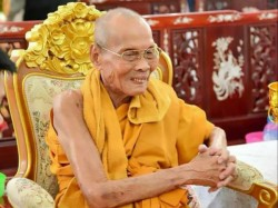 Buddhist Monk Luang Phor Pian Thailand Smiling Two Months After His Death