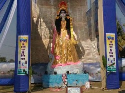 Big Size Saraswati Idol Creats At Kaligram Burdwan