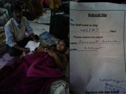 Through Letter From Cm West Bengal Super Sskm Served Empty Bed A Patient From Siliguri