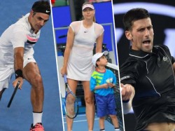 Djokovic Federer Cruises Into Round 16 But Sharapova Show