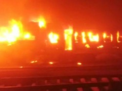 Four Coaches Patna Mokama Passenger Gutted Fire