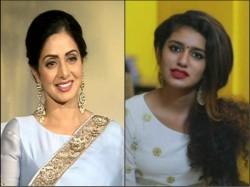Priya Prakash Varrier Tributes Sridevi Her Own Style