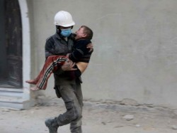 Video Shows Children Being Pulled Of Rubble Eastern Ghouta
